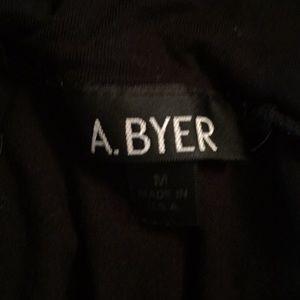 A. Byer Tops - A. Byer black short sleeve mock turtleneck shirt